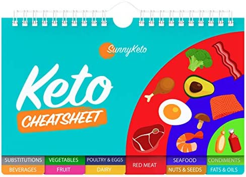 Keto Diet Cheat Sheet Quick Guide Fridge Magnet Reference Charts for Ketogenic Diet Foods - Including Meat & Nuts, Fruit & Veg, Dairy, Oils & Condiments By SunnyKeto (14 Page Guide) 6