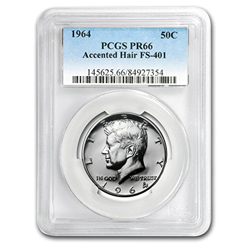 1964 Kennedy Half Dollar Proof-66 PCGS (Accented Hair) Half Dollar PR-66 PCGS (Half Dollar Proof Kennedy)