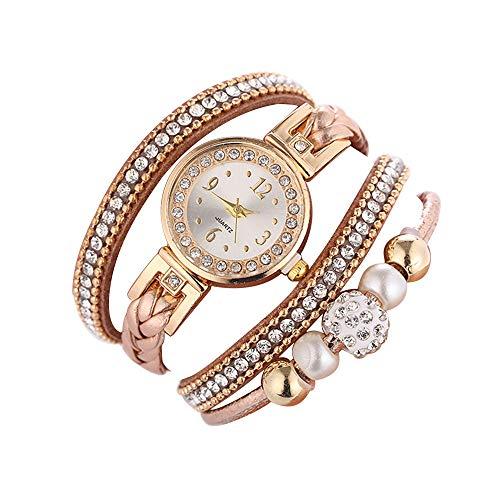 Fashion Women Jewelry Bracelets Watch Averyzoe Leather Rhinestone Band Wristwatch on Sale Clearance Analog Quartz Gift Watches for Girls ()