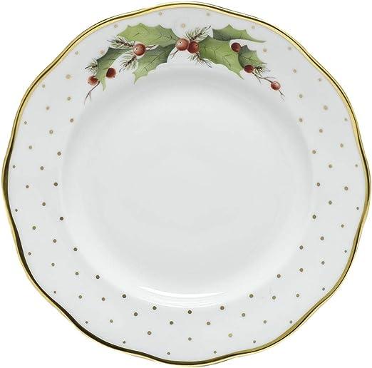 Amazon Com Herend Winter Shimmer Porcelain Christmas Dessert