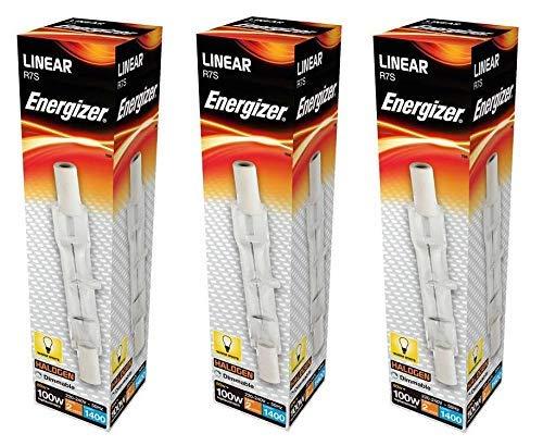 3 x Energizer Linear R7s 80W = 100W 78mm Halogen Floodlight Light Bulb