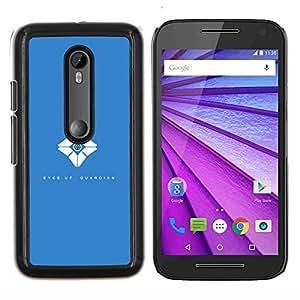 LECELL--Funda protectora / Cubierta / Piel For Motorola MOTO G3 3rd Gen -- Ojos Up --