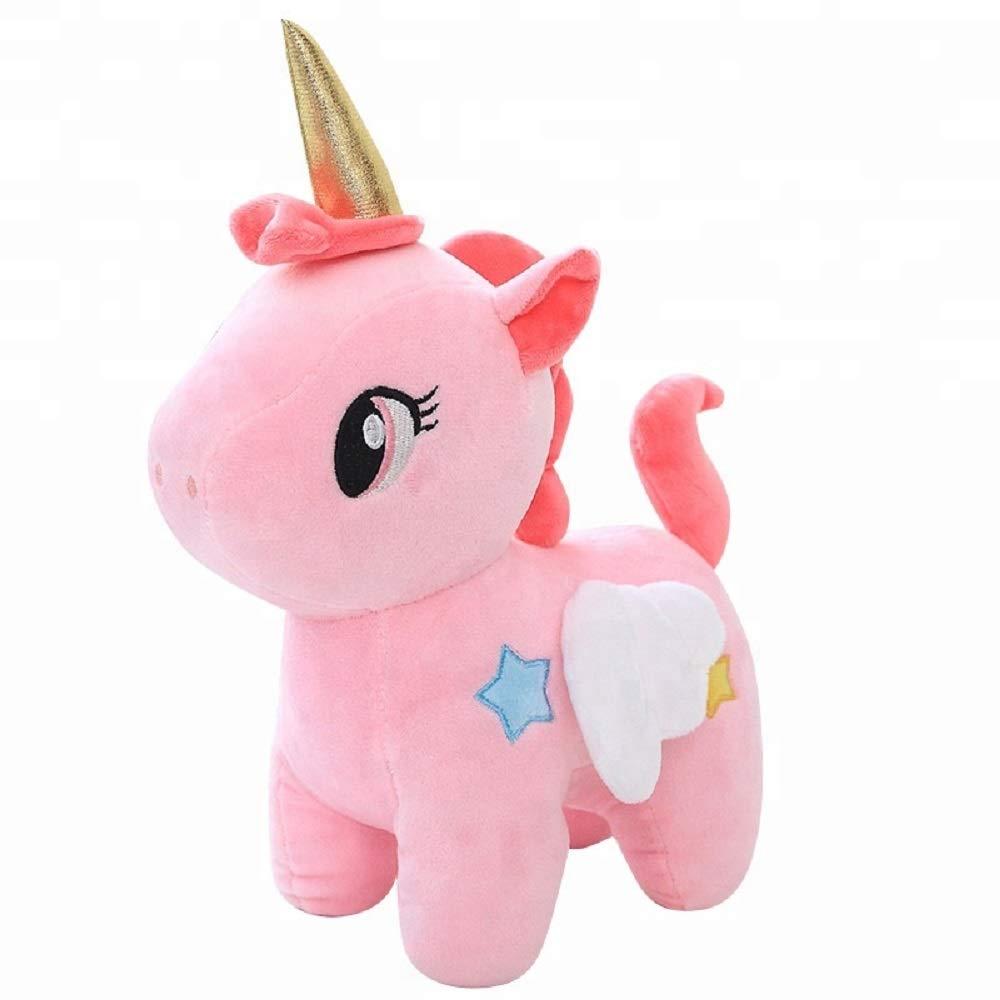 Blue Plush Unicorn Toy Jax /& Olivia Super Soft Magical Princess Unicorn