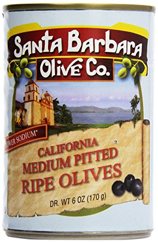 Santa Barbara Olive Company, Medium Pitted Ripe Olives, 6 oz