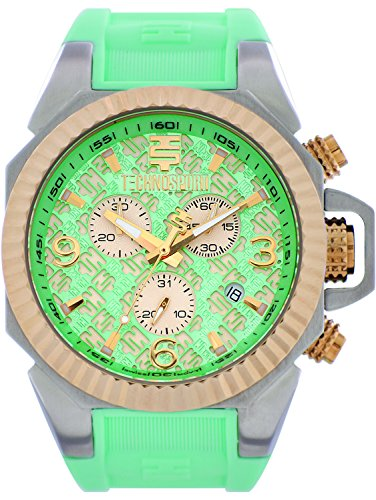 TechnoSport TS-100-5RL Womens Aquamarine Silicone Band, Gold Bezel, 40MM Aqua and Gold Dial,Stainless Steel Chronograph - Uk Micheal Kors