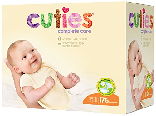 Cuties Complete Care Baby Diapers, 176 Count Only $18.97 (Was $36)