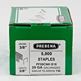 20GA 3/8 Crown x 3/8'' Length Galv. 5,000-Pack Arrow T-50 Style Hammer Tacker Staples