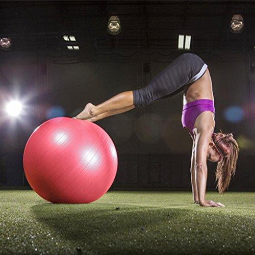 HHORD Balle fitness équipement home fitness yoga mince épaississement ex enceinte massage Yoga boule de 65cm (couleurs aléatoires)