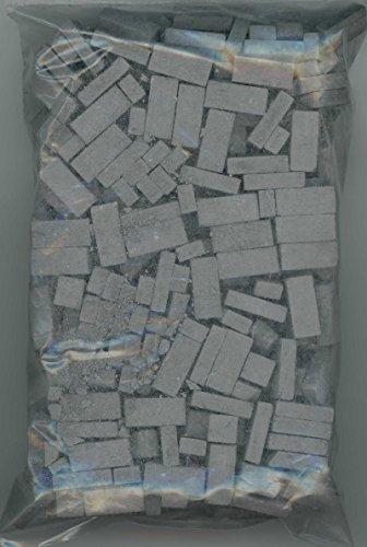 Model Brick - Dollhouse Miniature 325 Piece Charcoal Brick
