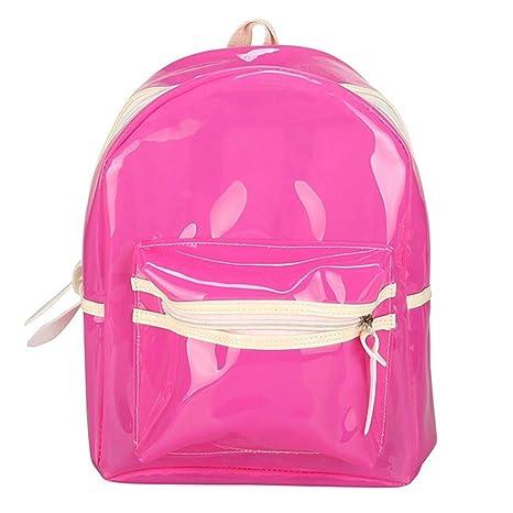 22e07130876 Amazon.com   school bag for students, iOPQO Glitter Jelly Lantern Bag LED  Transparent Backpack   Kids  Backpacks