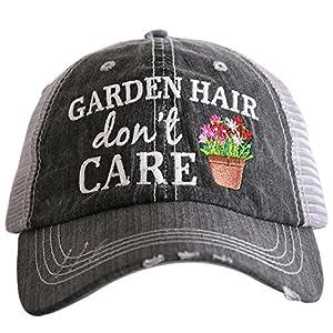 KATYDID Garden Hair Don't Care Baseball Hats Caps