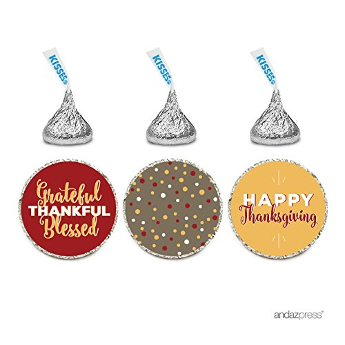 Thanksgiving Stickers for Hershey's Kisses