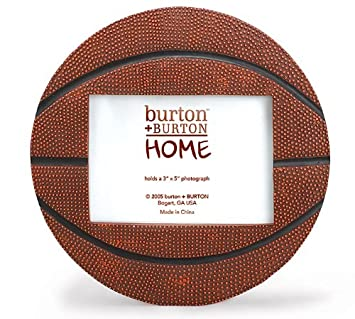 basketball shaped picture frame perfect for sports team photo