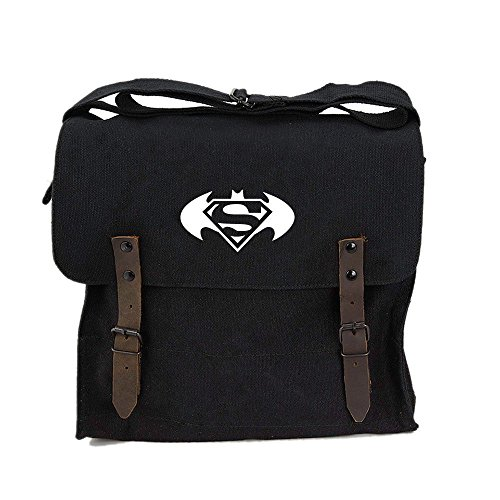 Batman Superman with Round Wings Army Heavyweight Canvas Medic