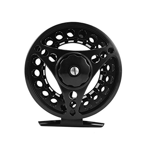 (Dyna-Living 7/8 Fly Fishing Reel Large Arbor Left or Right Handed Aluminum for Freshwater with Smooth Spare Spool Silver)