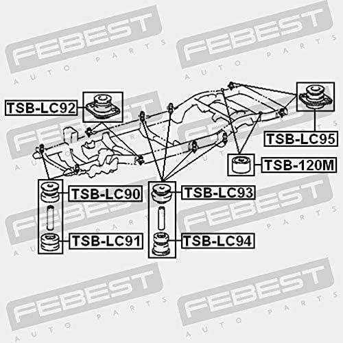 TSB-LC95 Febest ALMOHADA DEL BASTIDOR
