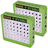 [Pack of 2]MarsHdyro Reflector48 LED Grow Light 102W True Watt Veg and Flower Switchable Spectrum for Indoor Greenhouse/Garden