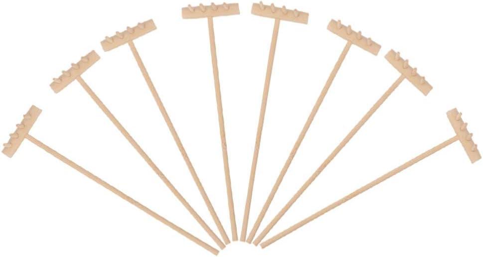 EXCEART 8Pcs Mini Zen Sand Rake Bamboo Rakes Tool Meditation Zen Garden Tools Feng Shui Tabletop Rock Garden Sandbox Kits Japanese Desktop Sand Box Accessories 14cm x3. 5cm