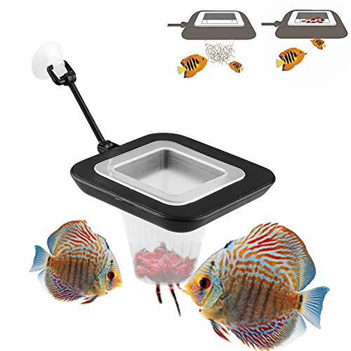 FLOURITHING Multi-Function Fish Feeder Ring Set Aquarium Fish Tank Live Red Worm Food Feeder Plant Cone Cup Feed Thaw Measuring Cup Shape Basket for Feeding Feeding Fish Aquatic Pet for Betta