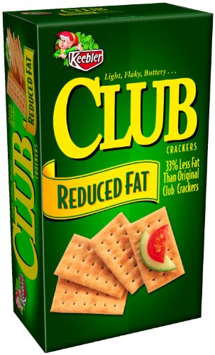 Keebler Club Reduced Fat Crackers, 11.7 Ounce (Pack of 4).