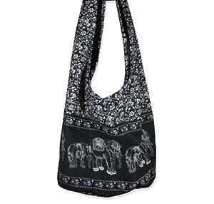 Amazon.com : Hippie Elephant Sling Crossbody Bag Purse Thai Top ...