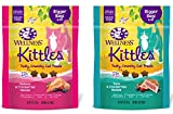 Wellness Kittles Cat Treat VALUE Variety Pack - 2 Flavors (Salmon & Cranberries, and Tuna & Cranberries Flavors) - 6 oz Each (2 Pack)
