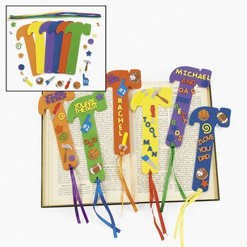 foam hammer bookmark set father's day gifts for kids to make
