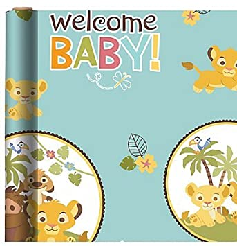 Baby Lion King Baby Shower Gift Wrap