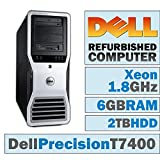 Dell Precision T7400 TWR/Xeon E5205 @ 1.86 GHz/6GB DDR2/2TB HDD/CD-RW/WINDOWS 7 PRO 64 BIT