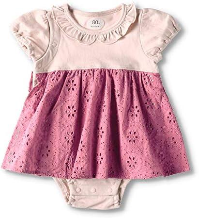 [ブランシェス] カットワークレース 半袖 カバーオール 女児 赤ちゃん ベビー