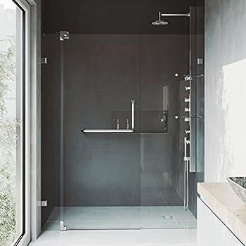 Vigo Pirouette 48 To 54 In Frameless Shower Door With 375 In