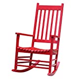 International Concepts R-53641 Porch Rocker, Solid Wood Red