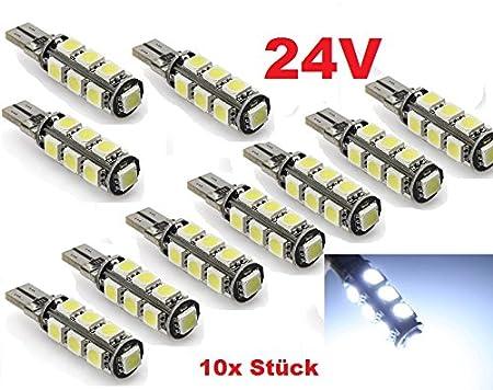 //éclairag Lot de 24/V/ /Ultra clair/ /Camion/ /10/x/ /SMD/ /Xenon Blanc/ /V/éhicules Utilitaires/ /Truck/