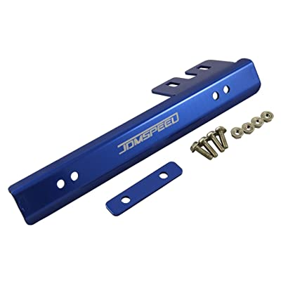 JDMSPEED Universal Blue Front Bumper License Plate Mount Bracket Relocator Holder Bar: Automotive