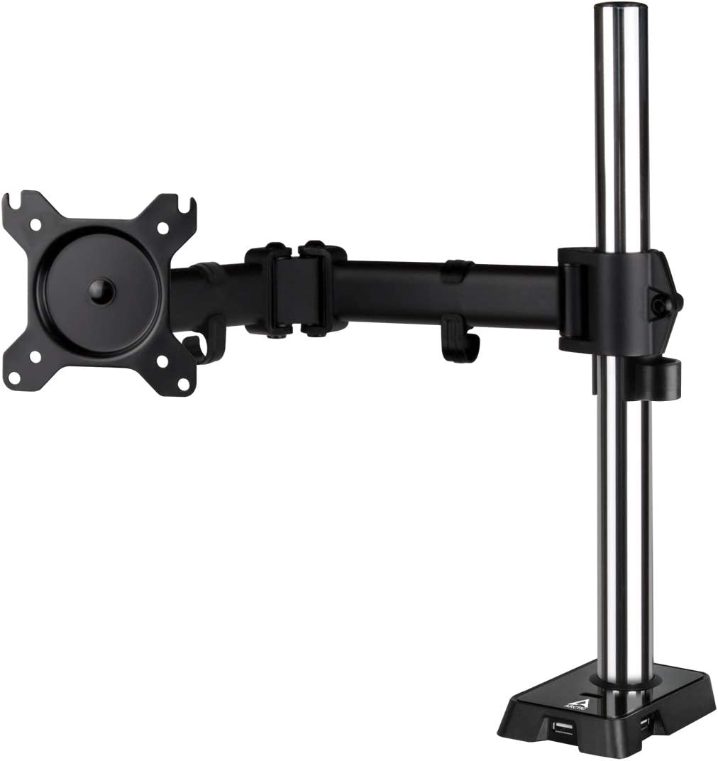 """ARCTIC Z1 (Gen 3) - Desk Mount Single Monitor Arm for Screens up to 34""""/38'' Ultrawide, up to 15 kg (33 lbs), Easy Monitor Mount Adjustment - Matt black"""