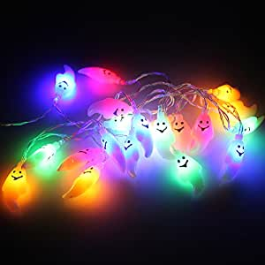 Marswell Battery Operated LED Ghosts String Lights Decor Lights for Halloween, Holiday, Festival, Party Decor(20 Ghosts lights)