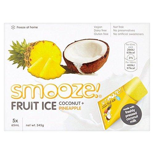 Smooze Pineapple Fruit Ice Lollies - 5 x 65ml (10.99fl oz) by Smooze!