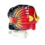Tropical Fish 4 x 4.5 Porcelain Electric Wall Swivel Plug-In Night Light