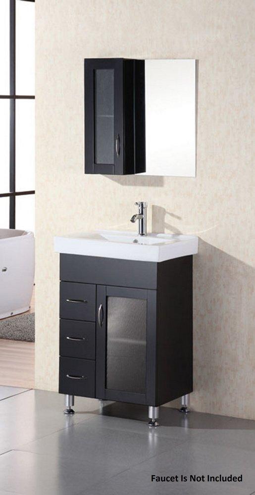 Stanton Espresso Vanity Set w/ Single Sink 24'' by Design Element by Design Element