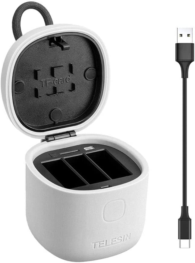 Sisterxsc Camera Power Adapters Fashionable and Multi-Function with IP54 Life Waterproof Safe and Reliable for Hero7//6//5 Sports Camera Charger Storage Box Battery Set