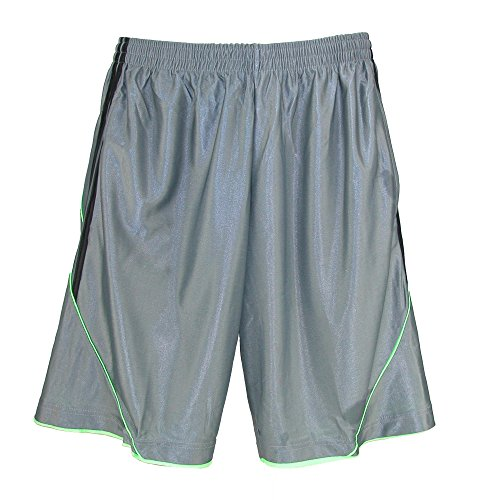 Street Line USA Men's Basketball Lounge Shorts With Pockets, 3XL, Grey (Large Casual Shorts)