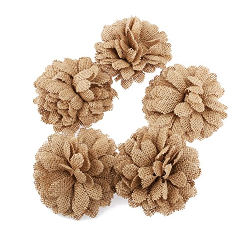 Tinksky Hessian Flowers Christmas Decoration 5pcs