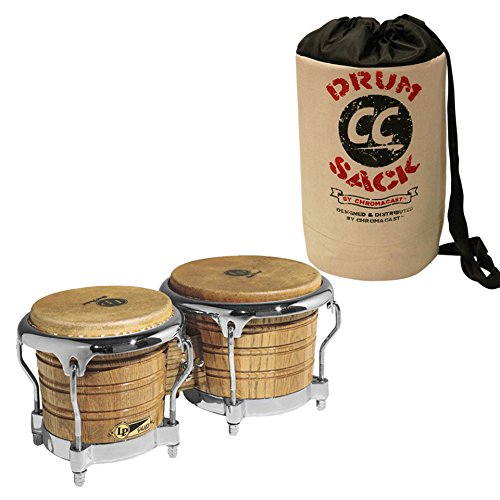 Series Wood Congas (LP Latin Percussion LP793X Giovanni Galaxy Series Wood Bongos and Chrome Hardware - Includes: ChromaCast Drum Sack)