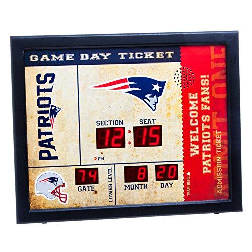 New England Patriots Desk Clock - 3