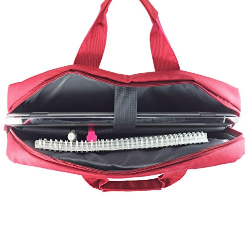 Laptoptasche für ASUS E200HA-FD0043TS Businesstasche / Aktentasche / Notebooktasche mit Schultergurt - LB Rot v1gZk