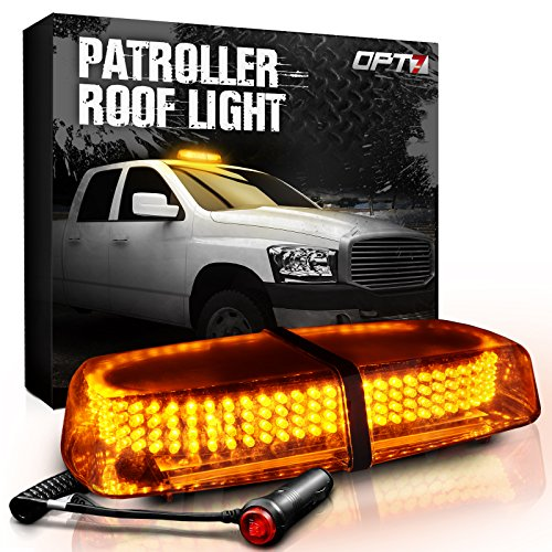 Patroller Amber Warning Emergency Roof Light Beacon - 240 LEDs - 2,000ft visibility - Hazard Flash Modes for EV Vehicles Safety Security Signal Lighting, Traffic Control, Ride Side, Snow Plow Trucks - Accessories Plow Truck