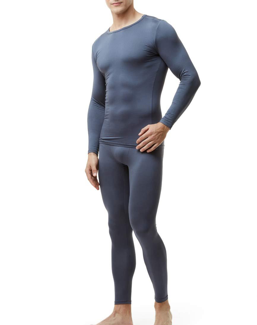 Seamless Thermal Underwear Longs John Set Fleece Lined Base Layer Top /& Bottom
