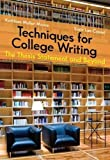 Techniques for College Writing 9781413033434