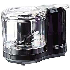 BLACK+DECKER 1.5-Cup Electric Food Chopper, Improved Assembly, Black, HC150B
