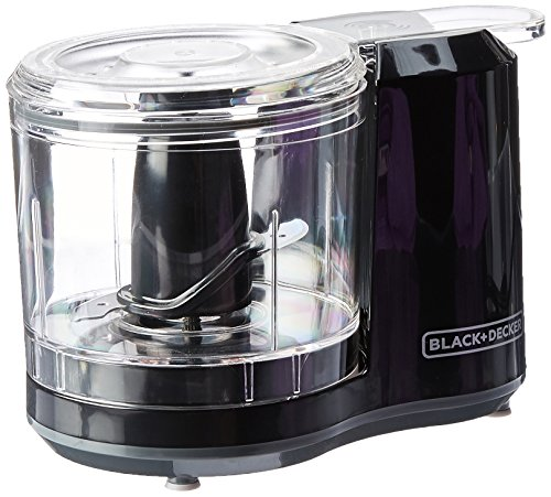 BLACK+DECKER 1.5-Cup Electric Food Chopper, Improved Assembly, Black, HC150B (Best Small Electric Chopper)